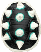 White Spiked Black Shell Backpack Backpack