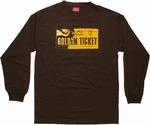 Willy Wonka Golden Ticket Long Sleeve T-Shirt