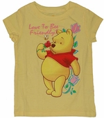 Winnie the Pooh Bee Friendly Girls T-Shirt