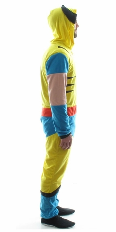 Wolverine Costume Hooded Union Suit