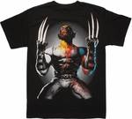 Wolverine Half Black and White T Shirt