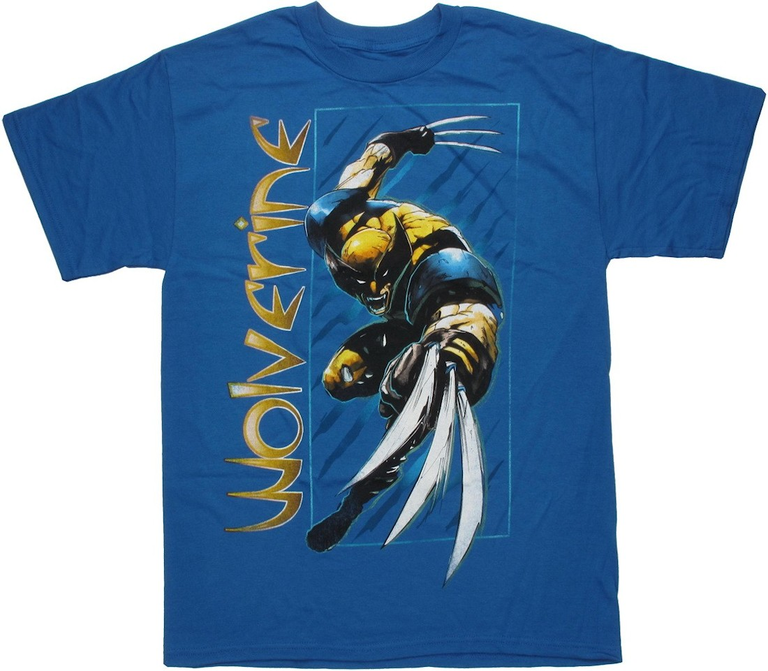 Wolverine Side Name Blue T Shirt