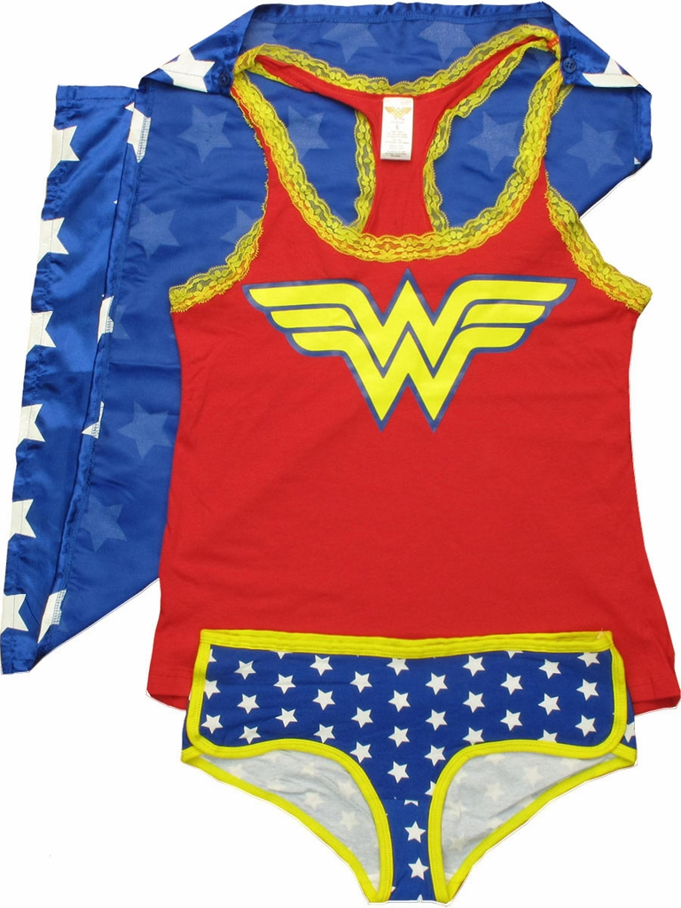 Wonder Woman Caped Tank and Briefs Junior Pajama Set