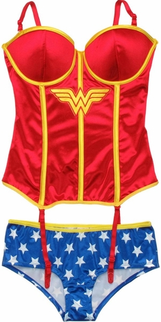 Wonder Woman Corset and Briefs Lingerie Set