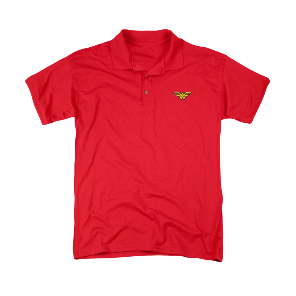 Wonder Woman Embroidered Logo Polo Shirt