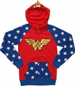 Wonder Woman Foil Tiara Junior Hoodie