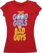 Wonder Woman Good Girls vs Bad Guys Baby Tee