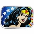 Wonder Woman Head Stars Rectangle Belt Buckle