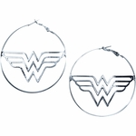 Wonder Woman Hoop Earrings