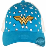 Wonder Woman Logo Blue Youth Hat
