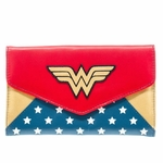 Wonder Woman Logo Envelope Clutch Wallet