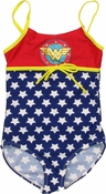 Wonder Woman Logo Girls One Piece Swimsuit