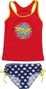 Wonder Woman Logo Girls Tankini Swimsuit