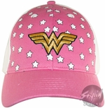 Wonder Woman Pink Logo Youth Hat