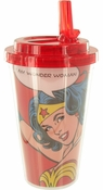 Wonder Woman Quote Flip Straw Travel Cup