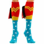 Wonder Woman Shiny Caped Knee High Socks