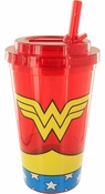Wonder Woman Uniform Flip Straw Travel Cup