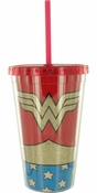 Wonder Woman Uniform Glitter Travel Cup