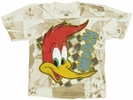 Woody Woodpecker Face Juvenile T Shirt