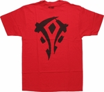 World of Warcraft MoP Horde Logo Red T-Shirt