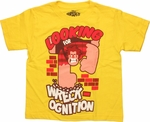 Wreck-It Ralph Ognition Yellow Juvenile T Shirt