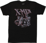 X Men Backlit Group T Shirt Sheer