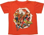 X Men Burst Through Burnout Juvenile T Shirt