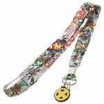 X Men Comic Collage Charm Lanyard