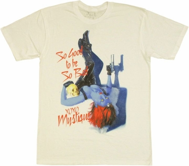 X Men Mystique Pin Up T Shirt Sheer