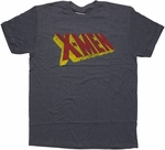 X Men Vintage Name Navy Heather T Shirt Sheer