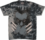 X Men Wolverine Fists Tie Dye T Shirt