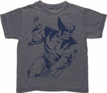 X Men Wolverine Inked Burnout Juvenile T Shirt