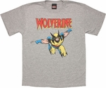 X Men Wolverine Leap Youth T Shirt