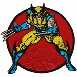 X Men Wolverine Maroon Circle Patch
