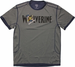 X Men Wolverine Name Burst Mesh T Shirt