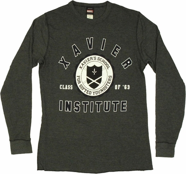 X Men Xavier Institute Thermal Long Sleeve T Shirt