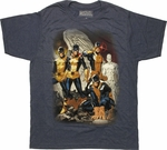 X Men Yesterday Past Team T Shirt Sheer
