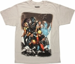X Men Yesterday Present Team T Shirt Sheer
