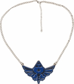 Zelda Blue Chrome Crest Necklace