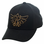 Zelda Crest Gold Outline Flex Hat