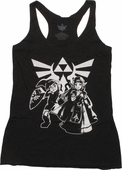 Zelda & Link Hyrule Crest Junior Tank Top