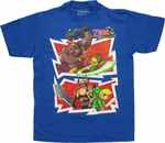 Zelda Spirit Tracks Two Panel Youth T Shirt