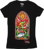 Zelda Stained Glass Wind Waker Baby Tee