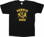 Zombie High Yellow Print T Shirt