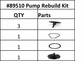 Pump Rebuild Kit for IPSPro Chemical Sprayer