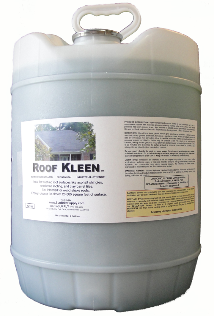 Superb Roof Kleen The Original Cleaning Detergent Removes Black Streaks From Roofs  Bleach Friendly Sun Brite Supply