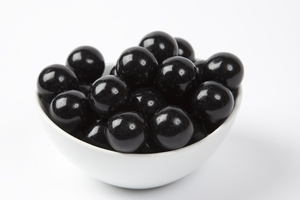 Black Gourmet Gumballs (14 Pound Case)