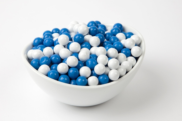 Blue and White Sixlets (4 Pound Bag)