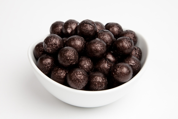 Brown Foiled Milk Chocolate Balls (5 Pound Bag)