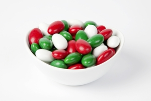 Christmas Jordan Almonds (5 Pound Bag)